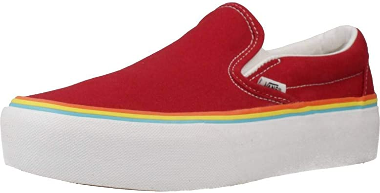 Vans Classic Slip-on Platform Chaussures DE Sport Femme Rouge VN0A3JEZS1U1