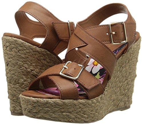 887865340119 - Madden Girl Women's Stackful Wedge Sandal, Cognac Paris, 7 M US carousel main 5