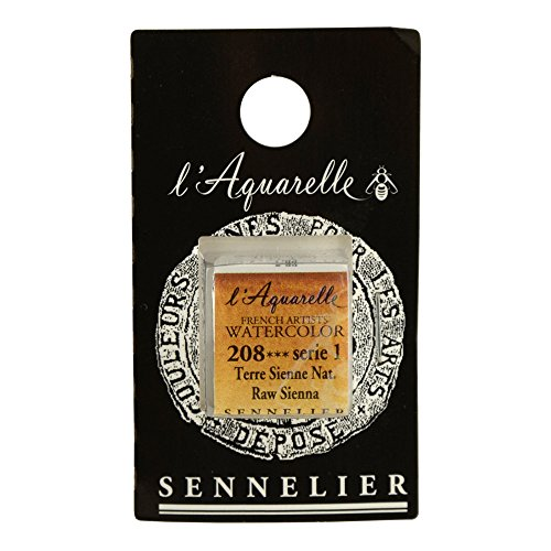 (Sennelier L'Aquarell French Watercolor Half Pan Replacement, Raw Sienna)