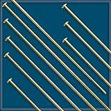 50pcs 2 12K Gold-Filled HEADPINS 22 Gauge #KD-17