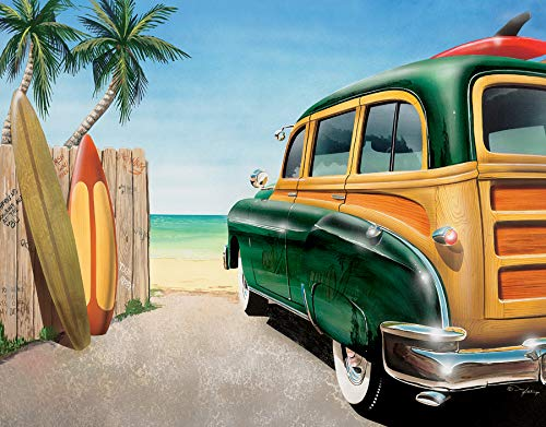 Desperate Enterprises Retro Auto - Beach Woody Tin Sign, 16