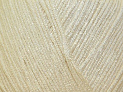 Sirdar Snuggly Baby Bamboo Knitting Yarn DK 131 Cream - per 50 gram (Sirdar Baby Bamboo)