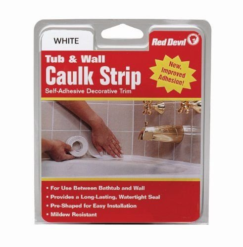 Red Devil 0151 Wide White Tub & Wall Caulk Strip 1-5/8-Inch by 11-Foot (Bath Tub Walls & Surrounds)