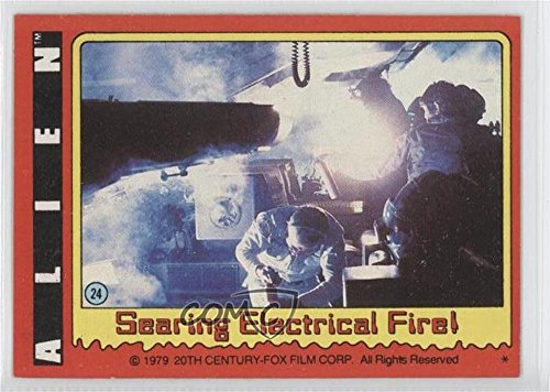 Searing Electrical Fire! (Trading Card) 1979 Topps Alien - [Base] #24