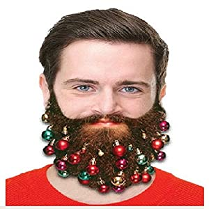 20pcs beard ornaments colorful christmas facial hair baubles for men easy attach mini mustache sideburns goatee whisker clips christmas xmas decoration - Christmas Beard