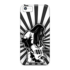 Shock-dirt Proof Heavy Metal Rocker Case Cover For Iphone 5c