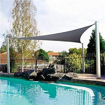 qianger Toldo Vela de Sombra, Toldo Resistente al Agua 90% UV Bloque Protector Solar Toldo para Patio al Aire Libre ...