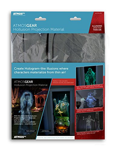 Halloween Illusion (AtmosFX Hollusion Projection Material, Grey, 5.5 x 9 ft)