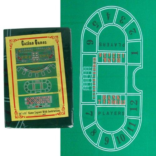 Trademark Baccarat Felt Layout, 36 x 72-Inch, Green