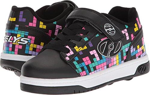 Heelys Girls' Dual up X2 Tennis Shoe, Black/Block Print, 12c M US...