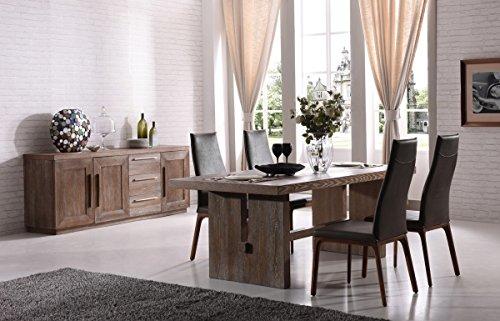 0 Meredine Dining Table, White Wash Oak ()