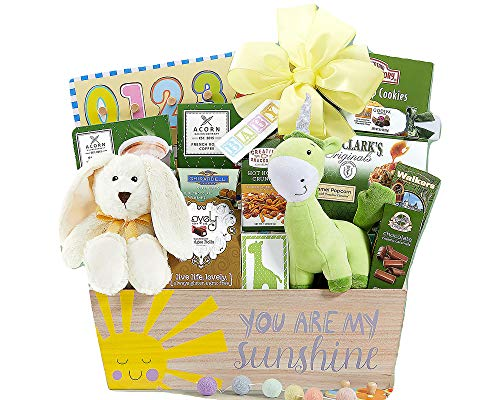 (Happy Baby Basket Of Joy You Are My Sunshine Gourmet Chocolate and Toys Baby Gift Basket)