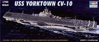 Trumpeter 1/700 USS Yorktown CV10 Aircraft Carrier Model Kit by Trumpeter