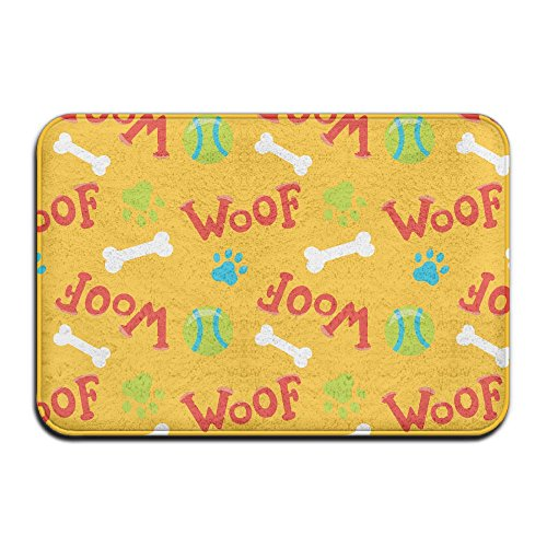 Woof Bone Front Door Mat Large Outdoor Indoor Entrance Doormat -Waterproof Low Profile Door Mats Stylish Welcome Mats Garage Patio Snow Scraper Front ()