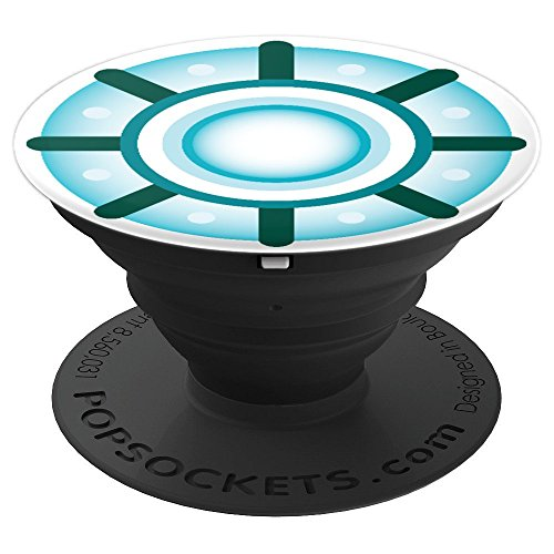 Arc Reactor Core Nuclear Chest Emblem Halloween Costume - PopSockets Grip and Stand for Phones and Tablets -