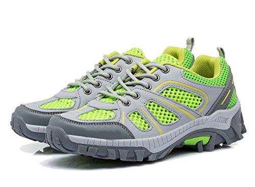 Malla De Deportes Al Aire Libre Respirables Usan Zapatos Antideslizantes Multicolor De Varios Tamaños Green2
