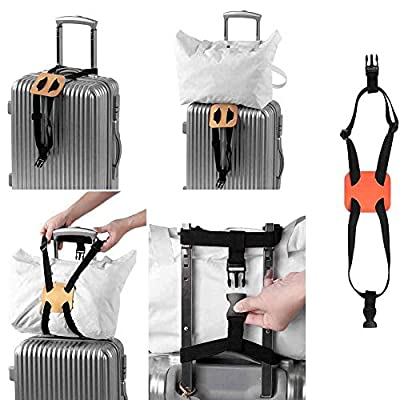 Luggage Bungee Straps 2 Pack with Buckles Elastic Adjustable Sturdy Belt for Roller Case Suitcase Bag Blanket Travelling
