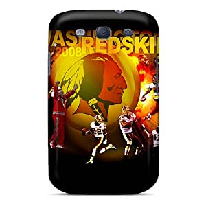 SherriFakhry Samsung Galaxy S3 Bumper Hard Phone Covers Allow Personal Design Stylish Washington Redskins Skin [pqm11074JijN]