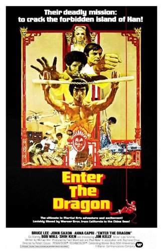 (Enter the Dragon Poster Movie I 11x17 Bruce Lee John Saxon Jim Kelly Ahna Capri)