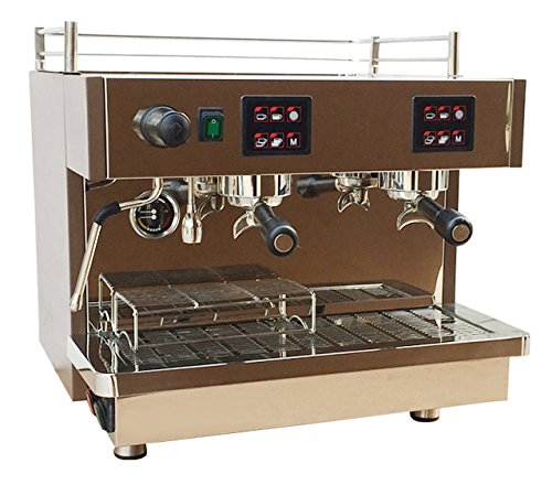 220 volts Chef Essentials KT-9.2H Semi-automatic Coffee Maker Copper boiler 2 groups commercial Multi-function coffee machine (Machine Espresso Commercial)