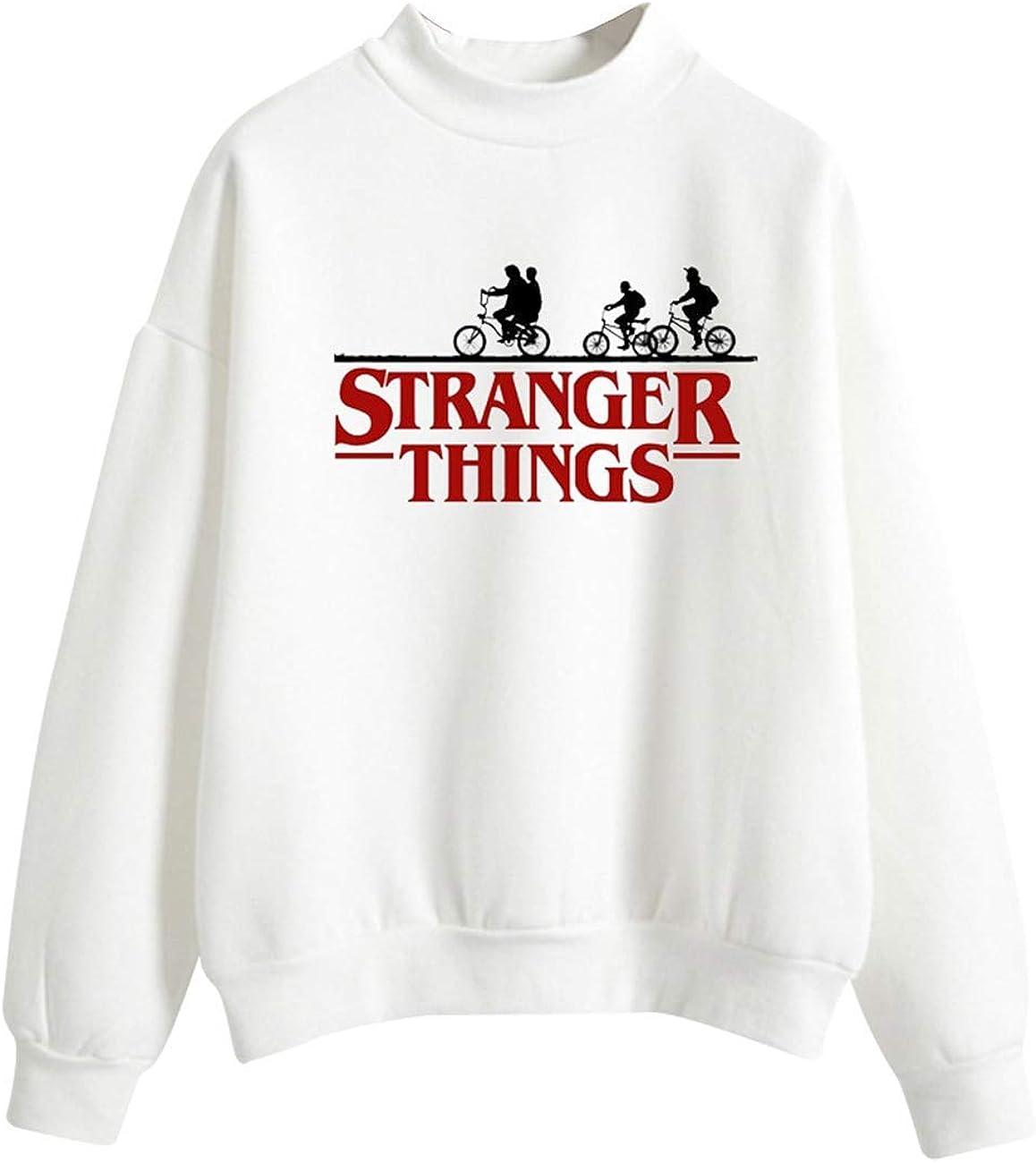 Sudadera Stranger Things Ni/ña Sudadera Stranger Things Cuello Alto Manga Larga Letra Eleven Impresi/ón Sudaderas sin Capucha Su/éter