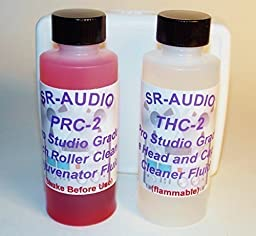 SR-Audio THPR-2 (1) 2 oz SR-Audio Audio/Video Tape Head Capstan Cleaner Fluid & (1) 2 oz SR-Audio Audio Video Pinch Roller Cleaner Rejuvenator Fluid