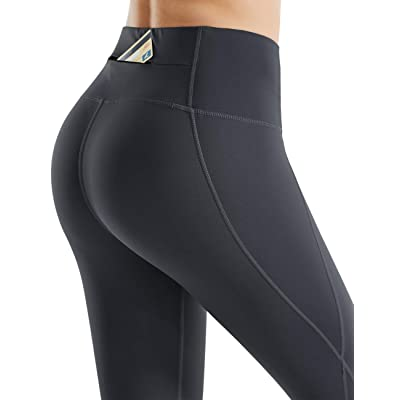 Rocorose Womens Workout Leggings High Waist Non See-Through Tummy Control Running Yoga Pants with Pockets