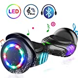 TOMOLOO Hoverboard with Bluetooth Speaker and Colorful LED Lights Self-Balancing Scooter UL2272 Certified 6.5'' Wheel for Adults and Child