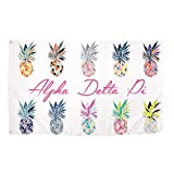 Alpha Delta Pi Pop Art Pineapple Sorority Flag Greek Letter Use as a Banner 3 x 5 Feet Sign Decor ADPi