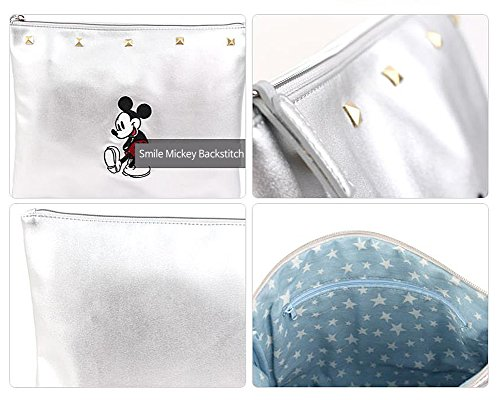 Silver for iPad Smile Cosmetics Disney Books Mouse Note Clutch Mickey wqAHzB