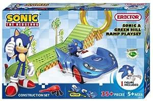 Erector Sonic The Hedgehog Hill Ramp Construction Playset, Green
