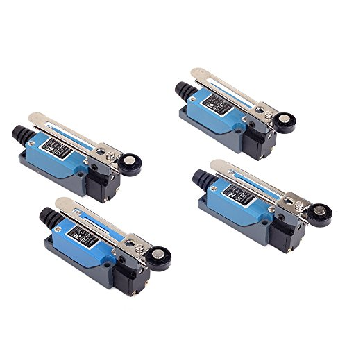 Switch Limit Wiring - Cylewet 4Pcs ME-8108 Adjustable Roller Lever Arm Limit Switch NC-No CNC (Pack of 4) CYT1085