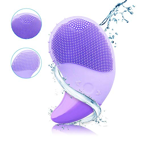 Silicone Facial Cleaning Brush Face Scrubber 3 Vibration Speeds Deep Clean with Eye Care Waterproof Face Brush for Polishing Scrub Anti-Aging Acid Peels Reduce Acne