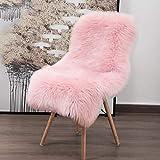 YOH Soft Faux Sheepskin Chair Cover Seat
