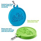 Pet Food Can Cover by Boshel - Set Of 2 Silicone Pet Food Cover Maintains Freshness & Locks in Smell - Each Pet Food Lid Fits 3 can sizes - FDA-Approved - Can Be Used As Both People & Pet Food Cover