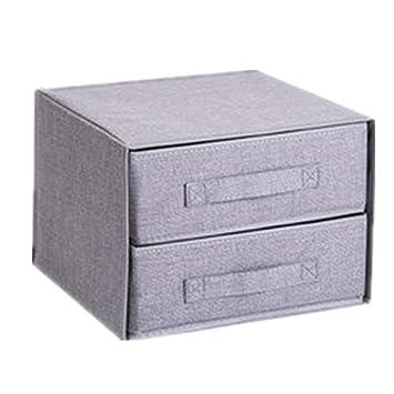 Wagsiyi Schubladen Organizer 2 Pack Schrank Unterwasche Kunststoff