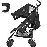 Maclaren Quest WR1R040422 Infant Baby Stroller - Black Black with Cup Holder