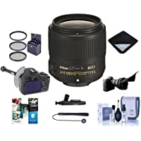 Nikon 35mm f/1.8G AF-S ED NIKKOR Lens - Bundle with 58mm Filter Kit, Flex Lens Shade, FocusShifter DSLR Follow Focus, Lens Wrap, Cleaning Kit, Cap Leash, LensPen Cleaner, Software Package