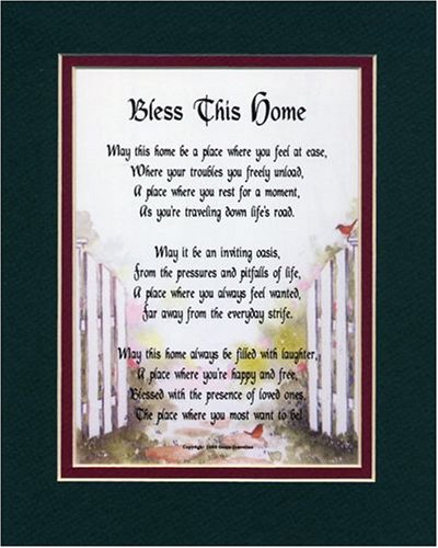 Amazon.com: Bless This Home, A Housewarming Gift Present Poem #204 ...