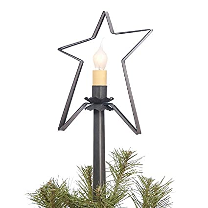 Amazon Com Irvin S Country Tinware Village Star Tree Topper