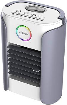 Mini Cooler Aire Acondicionado Portátil con Radio Bluetooth Climatizador Evaporativo Frio Ventilador Humidificador Purificador de Aire Leakproof,Gray: Amazon.es: Deportes y aire libre