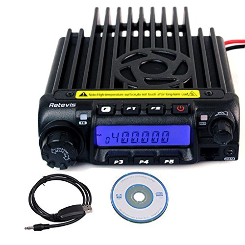 Retevis RT-9000D Mobile Radio Transceiver UHF 400-490MHz 70cm 45W 200CH 50 CTCSS/1024 DCS 8 Group's Scrambler VOX Function Car 2 Way Radio Ham Amateur Radio (Black)