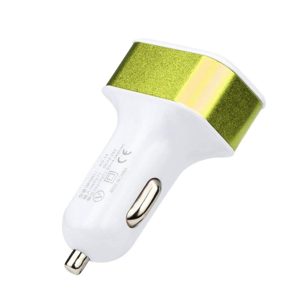 2A Centurrie DC 5.0V 2.1A Adaptador 1A Coche Universal 3 Puertos USB Cargador de tel/éfono de Carga r/ápida Enchufe USB