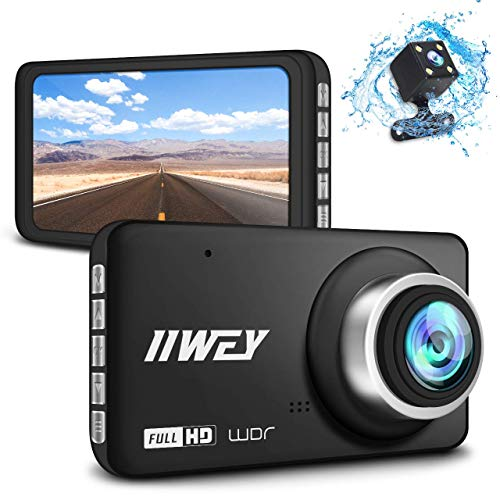 【Updated HD 720 Rear Cam】 Dual Dash Cam for Cars Front and Rear Super HD 1296P, 170 °Wide Angle Dashboard Camera with Night Vision, 4 IPS Screen Car Camera, G-Sensor Motion Detection Parking Mon