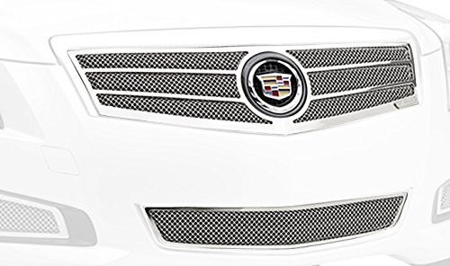 T-Rex 54177 Upper Class Polished Stainless Steel Finish Small Formed Mesh Grille Overlay for Cadillac ATS (Fine Mesh Style Grille)