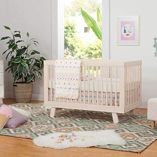 51UY42YFHOL - Babyletto Hudson 3-in-1 Convertible Crib With Toddler Bed Conversion Kit In Washed Natural, Greenguard Gold Certified