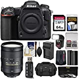 Nikon D500 Wi-Fi 4K Digital SLR Camera Body with 28-300mm VR Lens + 64GB Card + Case + Flash + Battery & Charger + Filters + Kit