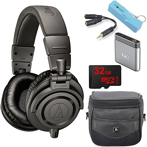 audio-technica-ath-m50xmg-limited-edition-studio-monitor-headphone-bundle-with-amp-2600mah-portable-