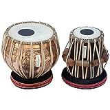 MAHARAJA Concert Goddess Saraswati Tabla Set 4 Kg Copper Bayan, Finest Black Sheesham Dayan with Padded Bag, Book, Hammer, Cushions & Cover (PDI-CJI)