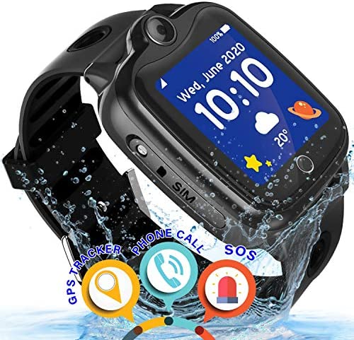 Waterproof Kids Smart Watch – Kids GPS Tracker Watch for Boys Girls Smartwatch Phone with Two-Way Call GPS LBS Double Positioning Fitness Tracker Watch for Kids Gizmo Learning Toy Birthday Gifts